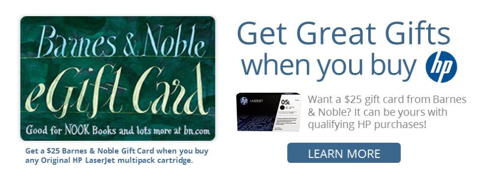 Barnes and Noble Gift Card With Qualifying HP Purchase from Tylander's Office Solutions