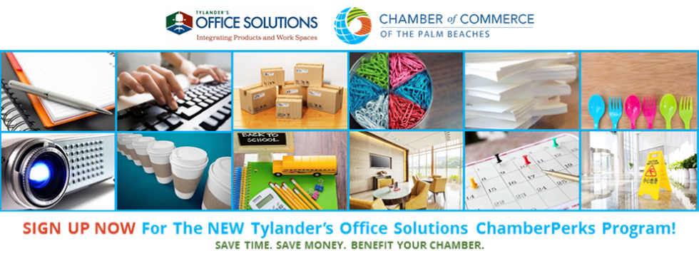 Tylander's Office Solutions Palm Beach Chamber of Commerce Program Chamber Perks
